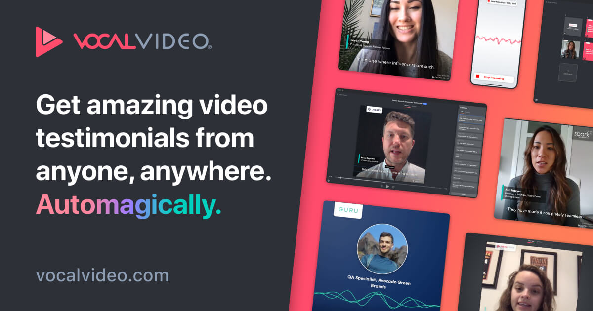 Vocal Video: Authentic Video Testimonials & Video Review Software