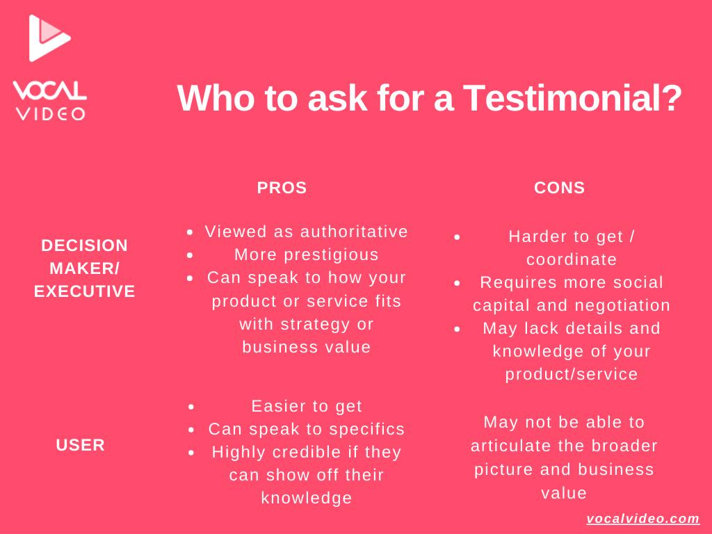 Testimonial Programs