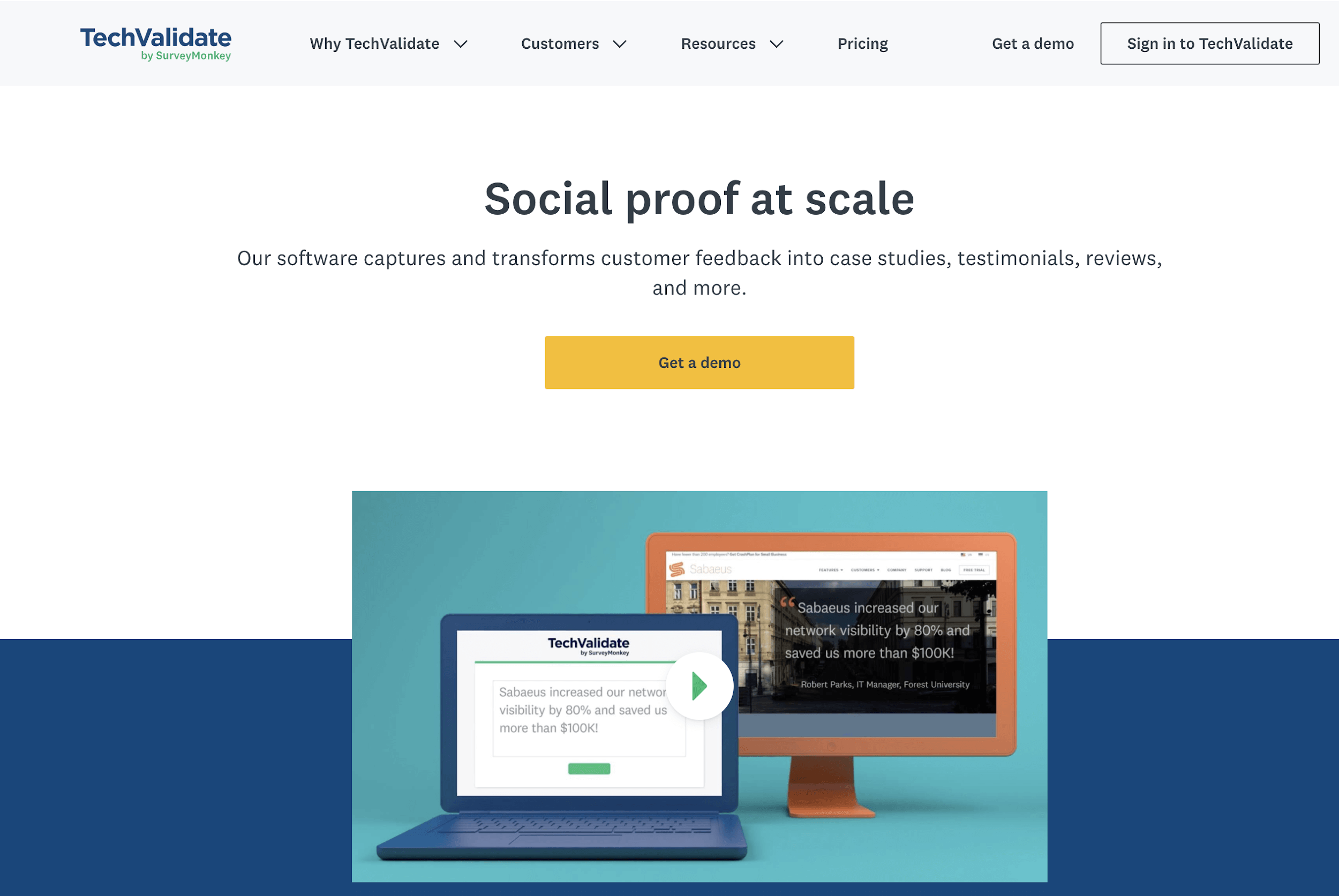 The TechValidate by SurveyMonkey platform