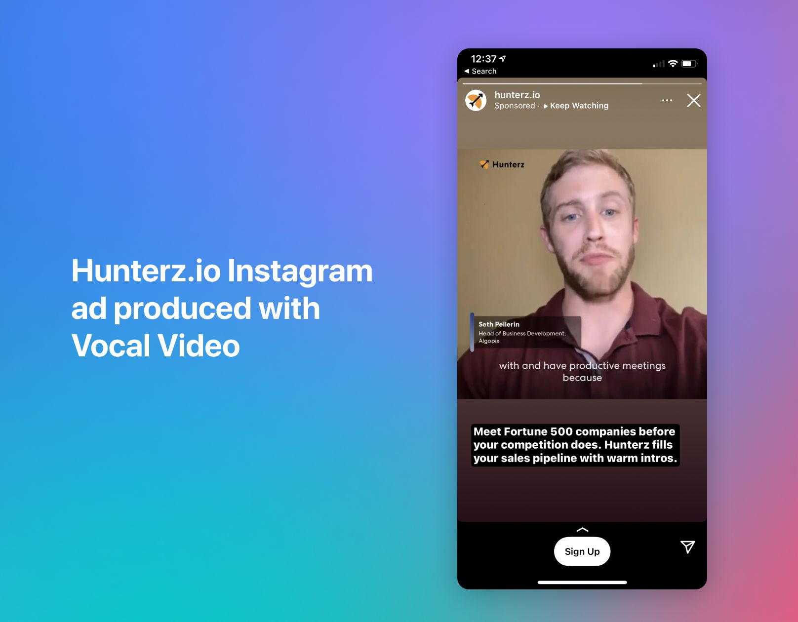 Instagram video ad