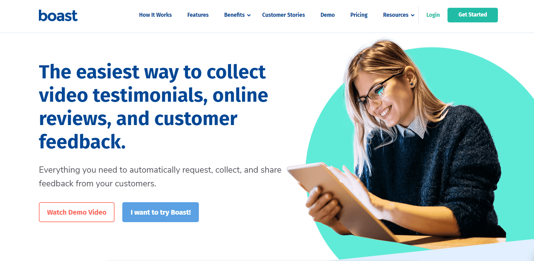 Boast.io: The easiest way to collect video testimonials, online reviews, and customer feedback. Everything you need to automatically request, collect, and share feedback from your customers.