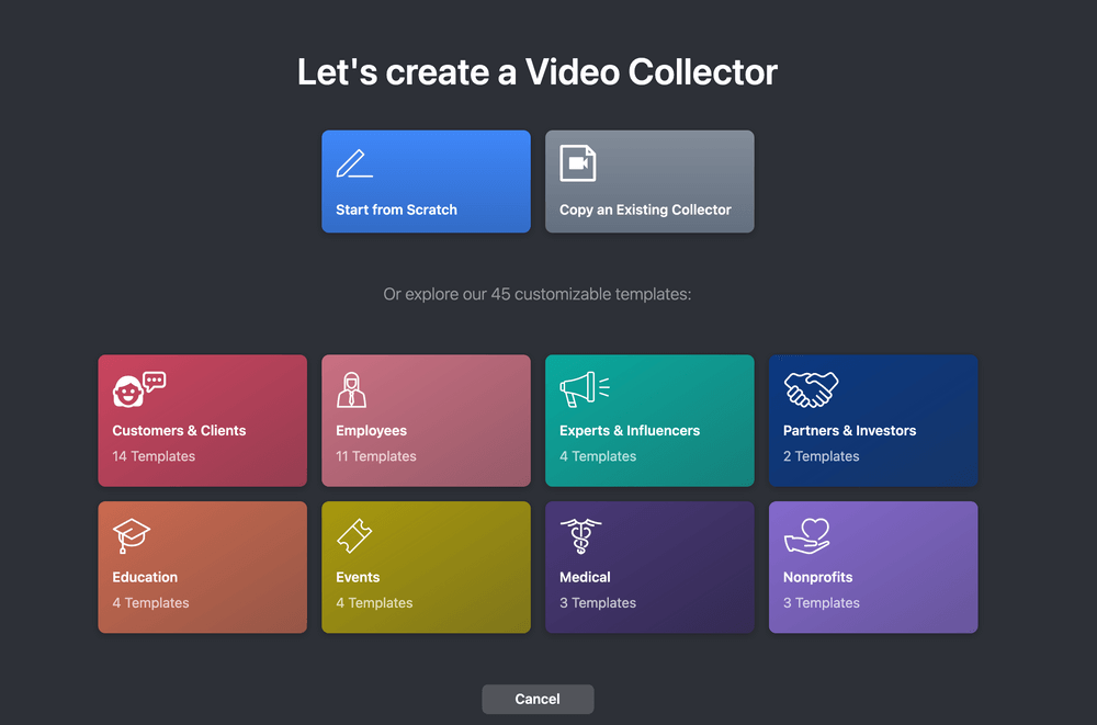 Vocal Video: Let's create a Video Collector